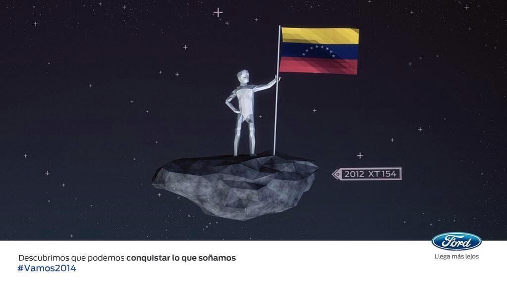 2013 Publicidad FORD David Oviedo y su asteroide 2012XT154
